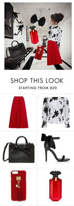 """""""red room"""" by staciewatson ❤ liked on Polyvore featuring Balenciaga, Miss Selfridge, Henri Bendel and Victoria's Secret"""