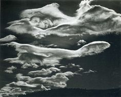 Brett Weston photo of clouds.