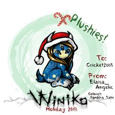 Winiko - 2013 Holiday gram plushie