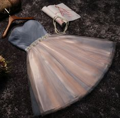 The new party dress short bridesmaid dress skirt bra grey skirt dress female sisters toast in spring and summer homecoming dress