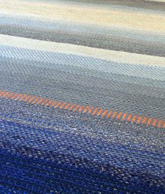 Handwoven rug by Nedra Granquist photo by Aimee Radman Rugs On Carpet, Carpets, Rag Rugs, Recycled Fabric, New Hobbies, Local Artists, Woven Rug, Minnesota, Hand Weaving