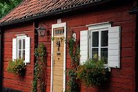 Traditional Swedish color made from local pigment called Fala Red, a potent red brown/ochre/iron oxide earth mixed with copper Swedish Cottage, Red Cottage, Cottage Style Homes, Swedish House, Cozy Cottage, Red Houses, Little Houses, Annie Sloan Paint Colors, Scandinavian Cabin