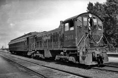 Old trains | CPR 7011 with one car passenger train operating between Sortin Yard ...