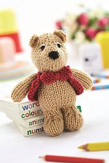 George Bear by Amanda Berry, Let's Knit June 2014