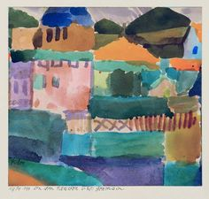 Bild: Paul Klee - In den Haeusern v. St. Germain
