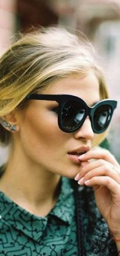 meow! glam in cat eye sunnies!