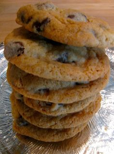 Simple chocolate chip cookie: 1 stick softened butter 1/2 C brown sugar 1/4 C white sugar 1 egg 1 t vanilla 1-1/2 C flour 1/2t baking soda pinch salt if using unsalted butter 1 C chocolate chips, semi-sweet