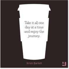 """""""Take it all one day at a time and enjoy the journey.""""—Kristi Barlett #pinklink #breastcancer #breastcancerawareness #breastcancernews #breastcancersurvivor #cancersurvivor #beatcancer #quotes #inspiration #positivity #journey"""