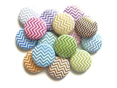 Chevron Buttons Pastel  Set of 15  Pinback by PandaLoveShop, $6.00      We use these to color code teams for scavger hunts.