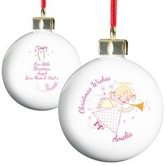 Best Selection Of Personalised Christmas Baubles For Free Gift Wrapping & Fast Delivery. Choose Your Xmas Baubles Personalised With Your Name & We'll Send Them Straight To Your Christmas Tree! Personalised Christmas Presents, Personalised Bauble, Christmas Gifts For Kids, Little Christmas, Personalized Gifts, 1st Christmas, Christmas Ideas, Christmas Crafts, Christmas Tree Baubles