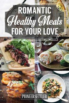 Romantic Healthy Meals to Cook for Your Love | | 11 Healthy Dinner Ideas For Two - Your Perfect Valentines Day Recipes To Cook by Pioneer Settler at http://pioneersettler.com/dinner-ideas-for-two/