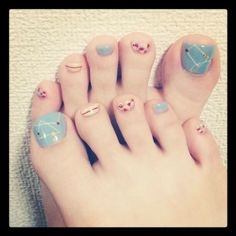 To know more about LIM nail, visit Sumally, a social network that gathers together all the wanted things in the world! Featuring over other LIM items too! Pretty Toe Nails, Cute Toe Nails, Pretty Toes, Toe Nail Art, My Nails, Feet Nail Design, Toe Nail Designs, Nails Design, Nail Tips