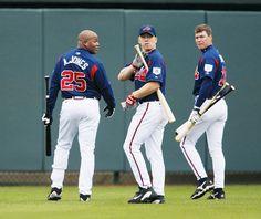 Andruw Jones, J.D. Drew, and Chipper Jones  - 2004