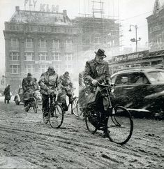 1956. Leidseplein Amsterdam during a blizzard. Photo Ad Windig, #amsterdam  #1956 #Leidseplein