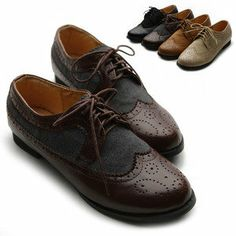 ollio Womens Lace Ups Oxfords Classic Dress Low Heels Multi Colored Shoes Flats