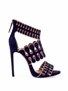Azzedine Alaïa Teardrop suede sandals MATCHESFASHION.COM #MATCHESFASHION