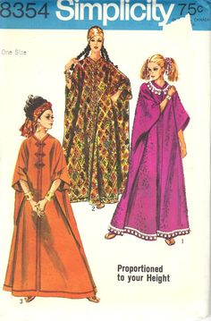 Simplicity 8354 Vintage Caftan Pattern Karen made me one of these too.  It is in a purple and gold sari fabric...gorgeous!