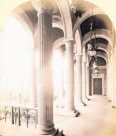 1871 Berlin, Potsdamer Bahnhof, Blick von der Vorhalle auf den Dreifaltigkeitsfriedhof, Hermann Rückwardt Halle, Potsdamer Platz, Berlin, Hall