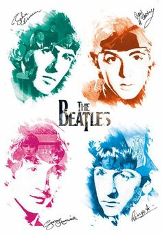 - The Beatles, John Lennon, Paul Mccartney Quality Canvas Print Choose Your Size & Garden Beatles Poster, Les Beatles, Beatles Art, Beatles Photos, Pop Rock, Rock And Roll, Rock Poster, Diamond Paint, The Fab Four