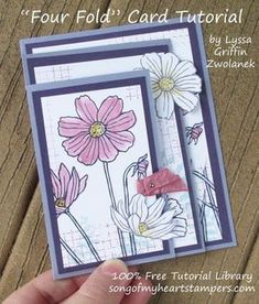 Fourfold Four fold card Stampin Up DIY cardmaking tutorial