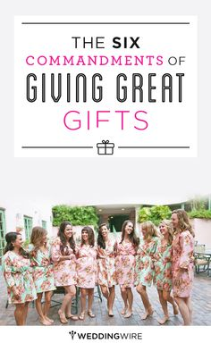 The 6 Commandments of Giving Great Gifts: Follow these and you'll be the best gift giver ever!