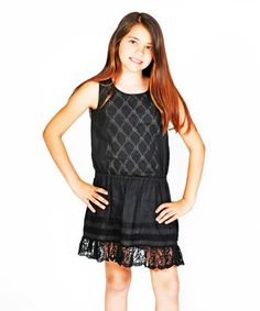 Look what I found on #zulily! Black Mathilde Dress - Toddler & Girls by Jelly the Pug #zulilyfinds