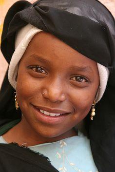 Yemen, Young girl in Sana´a