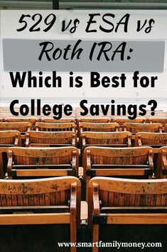 We all think about a 529 plan for college savings, but is it the best option? What about an ESA or Roth IRA? This post looks at the 529 vs ESA vs Roth IRA. College Fund, Saving For College, College Loans, College Hacks, Savings Account For Kids, College Savings Plans, College Planning, Finance
