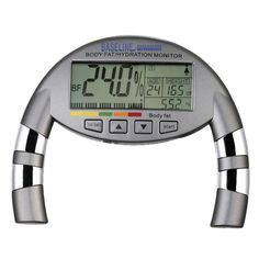The Baseline Hand-Held Body Fat Analyzer is a handheld, electronic device that measures your body fat and body water percentage. It has the ability to track up to 8 people and offers an adult or child mode.