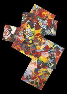 Zag, by Allyson Grey, 40 x 52, oils on wood, 1984