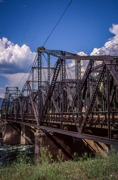 Old train bridge built by the Spokane Falls and Northern Railroad by Midland05, via Flickr