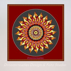 X-stitch pattern mandala Teardrops yellow - digital crossstitch embroidery pattern - 178 x 177 cross stitches - 32 x 32 cm - 13 x 13 inches  This