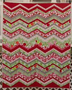 chevron quilt with the red and green fabrics