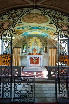 Detail of the Italian Chapel on Orkney Island, Scotland.  This is a fantastic little chapel...all constructed with cement!!  Amazing!!  Built by Italian POWs during WWII.