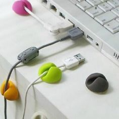 6x-Cable-Drop-Clip-Desk-Tidy-Organiser-Wire-Cord-Lead-USB-Charger-Holder