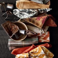 Colorful table linens  - Pottery Barn Fall
