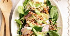 Leftover roast pork is the star ingredient of this quick and easy winter salad.