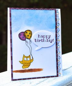 A Happy Birthday card with Stampin' Up! Blendabilities and the So Very Happy Stamp Set