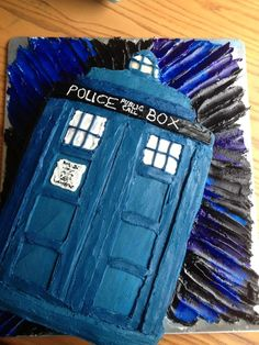 TARDIS Cake Secrist Make me this for my birthday pretty please? Now should this go on recipes or Doctor Who board? Doctor Who Cakes, Tardis Cake, Doctor Who Birthday, Birthday Parties, It's Your Birthday, Birthday Cakes, Doctor Who Tardis, My Dessert, Cupcake Cakes