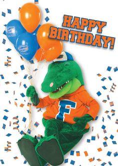 Happy Gator Birthday! Happy Birthday Football, Happy Birthday Pictures, Happy Birthday Quotes, Happy Birthday Cards, Happy Birthdays, Birthday Memes, Birthday Wishes Greetings, Birthday Sentiments, Birthday Clips