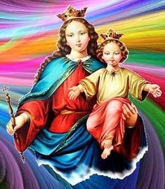 IMAGENES DE MARIA AUXILIADORA AUSILIATRICE AUXILIATRICE HELP OF CHRISTIANS Positive Affirmations Quotes, Affirmation Quotes, My Maria, Blessed Mother Mary, Madonna And Child, Princess Zelda, Disney Princess, Mothers Love, Disney Characters