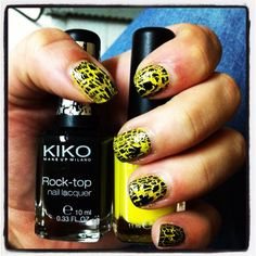 Black & Yellow nails    by AinaMakeup