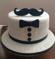 Mustache cake idea