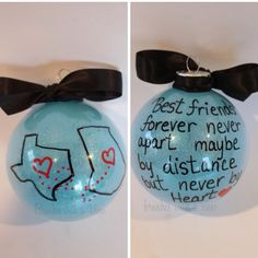best friends forever ornament you choose the glitter color and you choose the