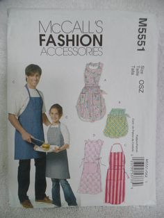 Aprons for the entire family new uncut pattern by 1LooseThread