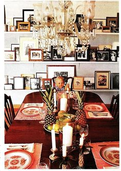 dining room, picture ledges, India Hicks?