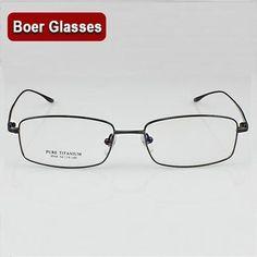 a10e63f56e Men Eyewear Frames. New Light Pure Titanium Eyeglasses frame RX Eyewear  Men s Full Rim Glassesiehrb
