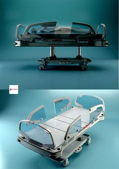 Cool Futuristic bunk beds Easy to Apply Modern Hospital, Hospital Bed, Medical Design, Healthcare Design, Futuristic Bed, New Technology Gadgets, 3d Modelle, Bunk Bed Designs, Hospital Design