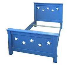 Painted Furniture Barn - Star Bed, childrens beds, kids beds, decorative beds, painted beds