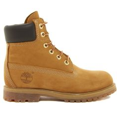 """Timberland 6"""""""" Premium Lace Up Flat Boot found on Polyvore"""